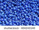 Beads Of Blue Colour Close Up...