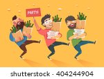 crowd of people going to the... | Shutterstock .eps vector #404244904