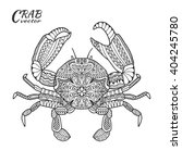 Crab. Hand Drawn Sea Animal...