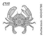 Crab. Hand Drawn Sea Animal...