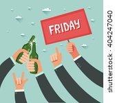 cheers  businessmen crowd at... | Shutterstock .eps vector #404247040