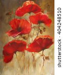 Poppy Flowers Handmade Oil ...