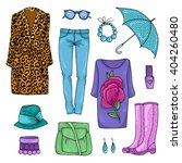 vector drawing set of colorful... | Shutterstock .eps vector #404260480