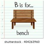 flashcard letter b is for bench ... | Shutterstock .eps vector #404263960