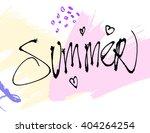 summer watercolor design....   Shutterstock .eps vector #404264254