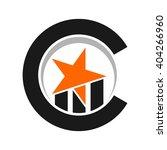 star and bar logo vector. chart ... | Shutterstock .eps vector #404266960