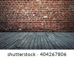 domestic room brick wall and... | Shutterstock . vector #404267806