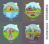 best trips and camping for... | Shutterstock .eps vector #404268826