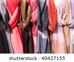colorful scarfs as abstract...   Shutterstock . vector #40427155