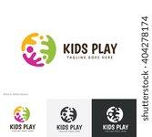 kids play logo template people... | Shutterstock .eps vector #404278174