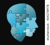 puzzle of human mind | Shutterstock .eps vector #404278978