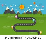 road with markers  vector... | Shutterstock .eps vector #404282416