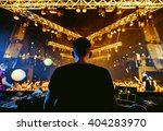 dj hands up at night club party ...   Shutterstock . vector #404283970