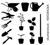 Set Of Garden Tools Vector...
