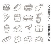 food. hand drawn doodle icon. | Shutterstock .eps vector #404285800