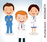 medical doctors. vector... | Shutterstock .eps vector #404286874