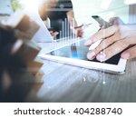creative hand working digital... | Shutterstock . vector #404288740