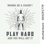 Vintage Tennis Or Sport...