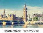 big ben clock tower and house... | Shutterstock . vector #404292940