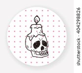 skull candle doodle   Shutterstock .eps vector #404298826