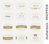 set of  label and elements for... | Shutterstock .eps vector #404299318