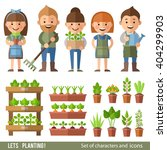 vector set of characters and... | Shutterstock .eps vector #404299903