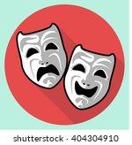 flat art and culture masks