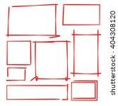 hand drawn rectangle frames   Shutterstock .eps vector #404308120