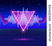 retro gaming neon background... | Shutterstock .eps vector #404309428