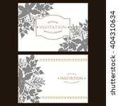 romantic invitation. wedding ... | Shutterstock .eps vector #404310634