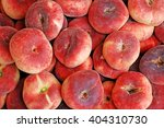 flat peaches background. donut  ... | Shutterstock . vector #404310730