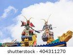 colorful ceramic worrier doll... | Shutterstock . vector #404311270