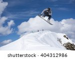 flying snowboarder on mountains.... | Shutterstock . vector #404312986
