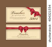 gift voucher template with a... | Shutterstock .eps vector #404321554