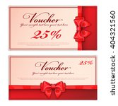 gift voucher template with a... | Shutterstock .eps vector #404321560