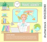 Office Of Travel Agency. Vecto...
