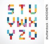 alphabet blocks style vector...   Shutterstock .eps vector #404334874