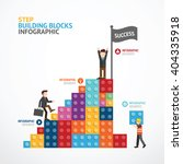 infographic template step... | Shutterstock .eps vector #404335918