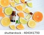 citrus essential oil. various... | Shutterstock . vector #404341750