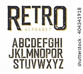 retro typeface. stamped... | Shutterstock .eps vector #404341918