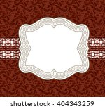 wedding card or invitation with ... | Shutterstock . vector #404343259