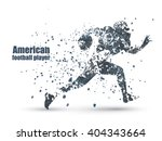 ink guy football player  vector ... | Shutterstock .eps vector #404343664