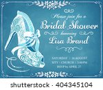 bridal shower invitation card... | Shutterstock .eps vector #404345104