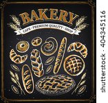 vintage bakery poster. set of... | Shutterstock .eps vector #404345116