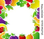 frame made of fruits and... | Shutterstock . vector #404347996