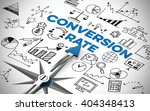 conversion rate in online... | Shutterstock . vector #404348413