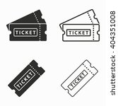 ticket    vector icons set....   Shutterstock .eps vector #404351008