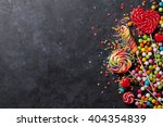 colorful candies and lollipops... | Shutterstock . vector #404354839