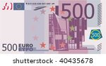 vector Evropean paper money 500 euro