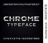 chrome alphabet font. modern... | Shutterstock .eps vector #404357878
